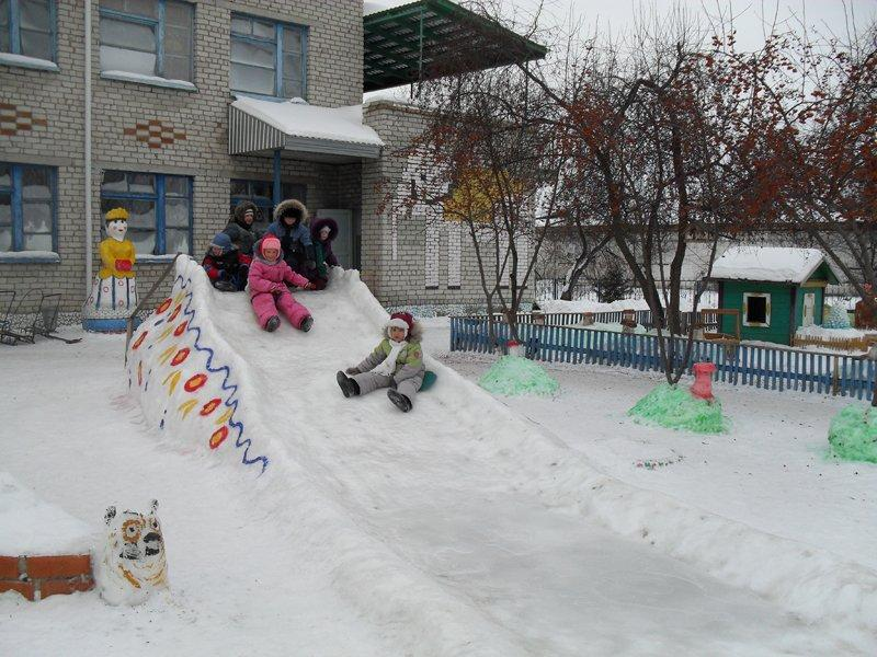 делаем горку из снега фото радар используют