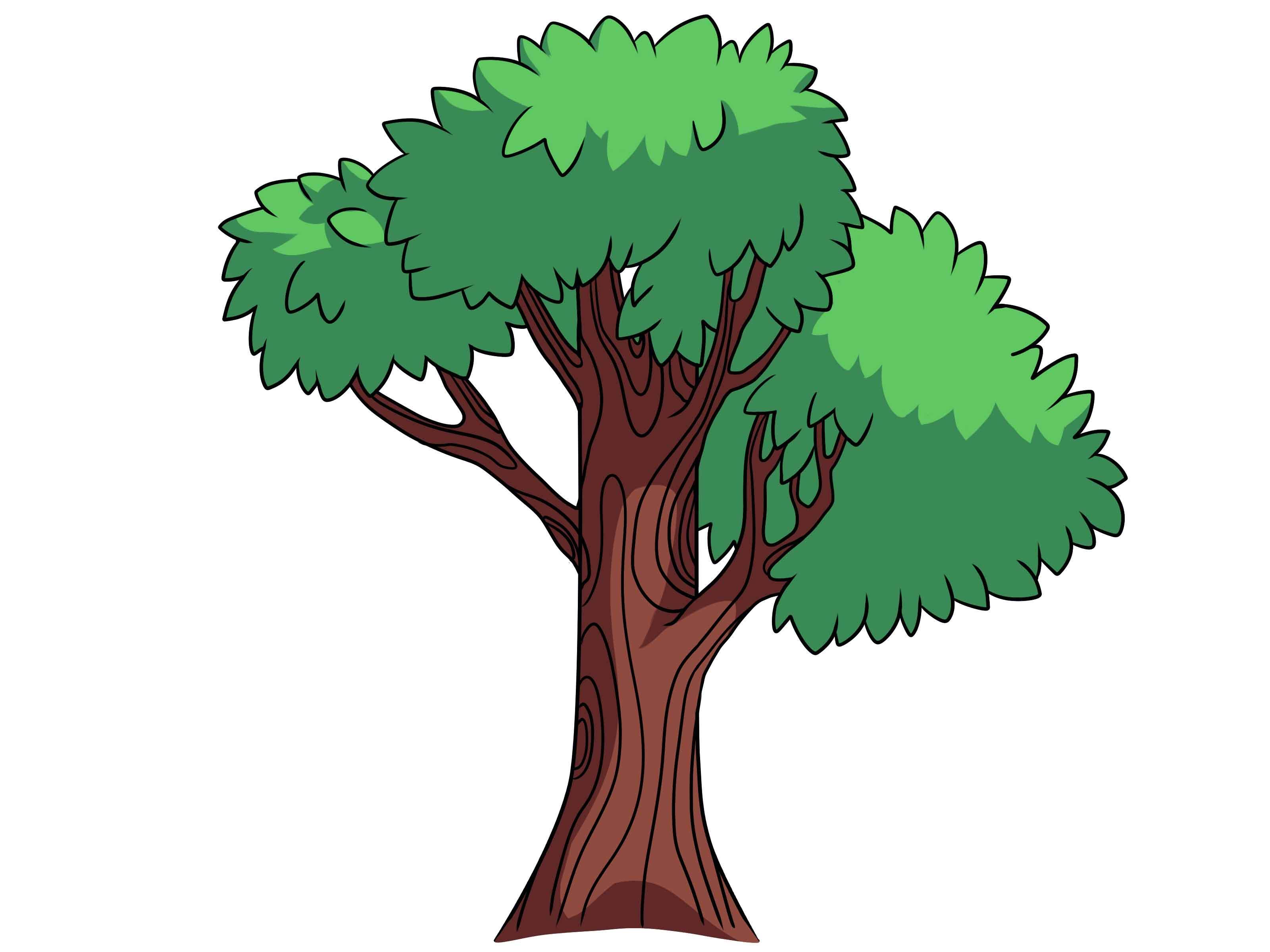 Картинка деревьев для детей без фона