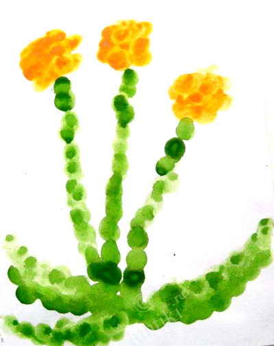 Рисование пальчиками в детском саду картинки
