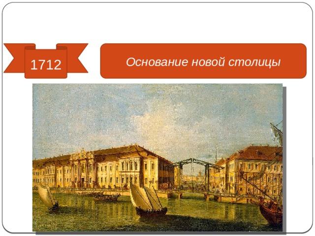 Реформы управления 1712 Основание новой столицы