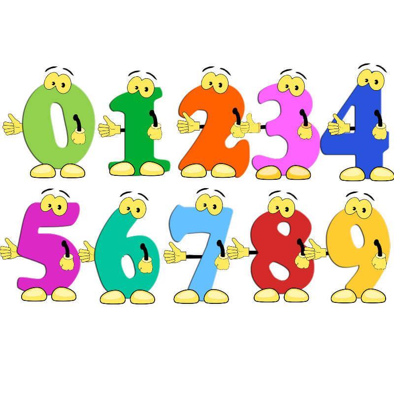 Рисунки детей смешные цифры