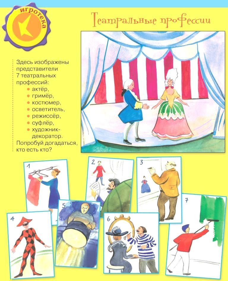 Театр картинки для дошкольников