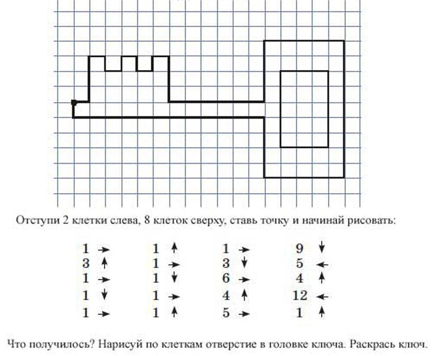 Картинка графических диктантов
