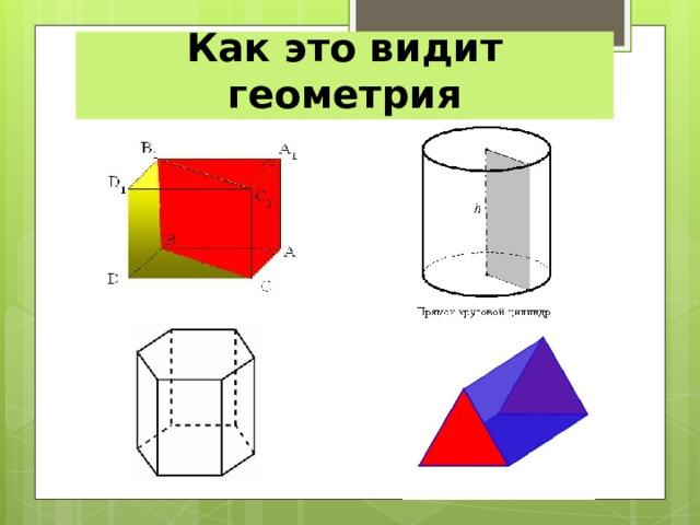 Как это видит геометрия