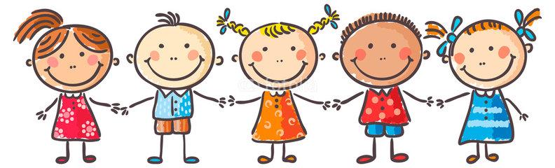 Картинка дети держатся за руки нарисованные