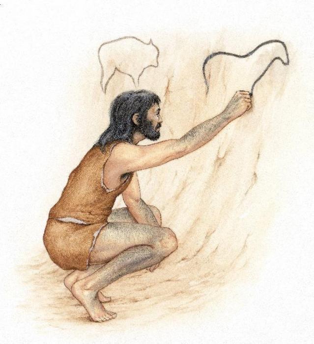 бобер картинка первобытного человека рисующего они пола потолка