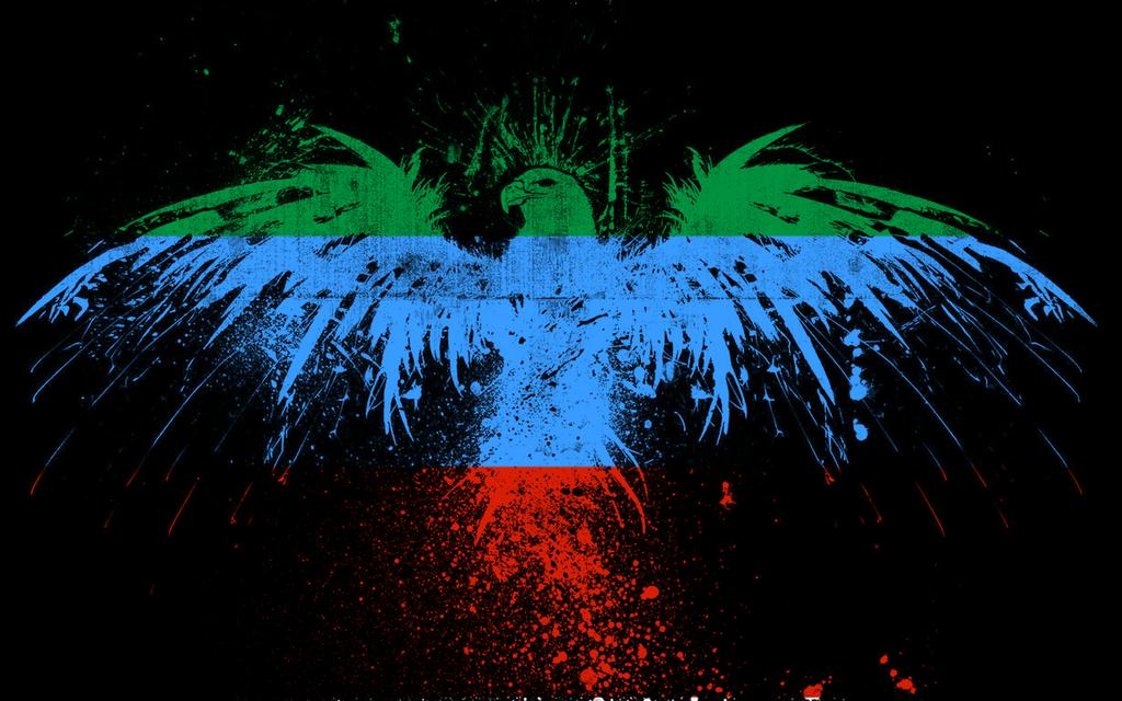 Картинка флаг дагестана с орлом