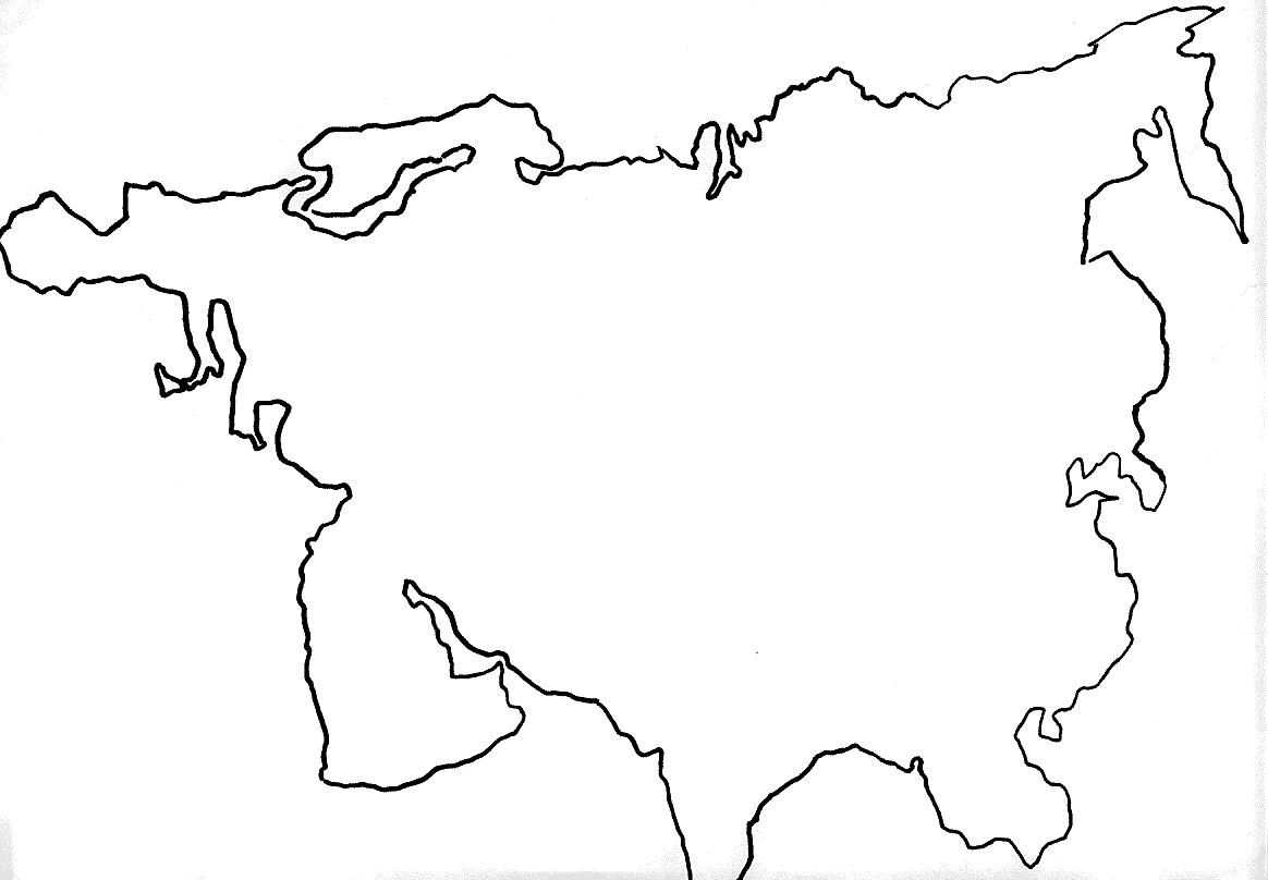 картинки контур континента