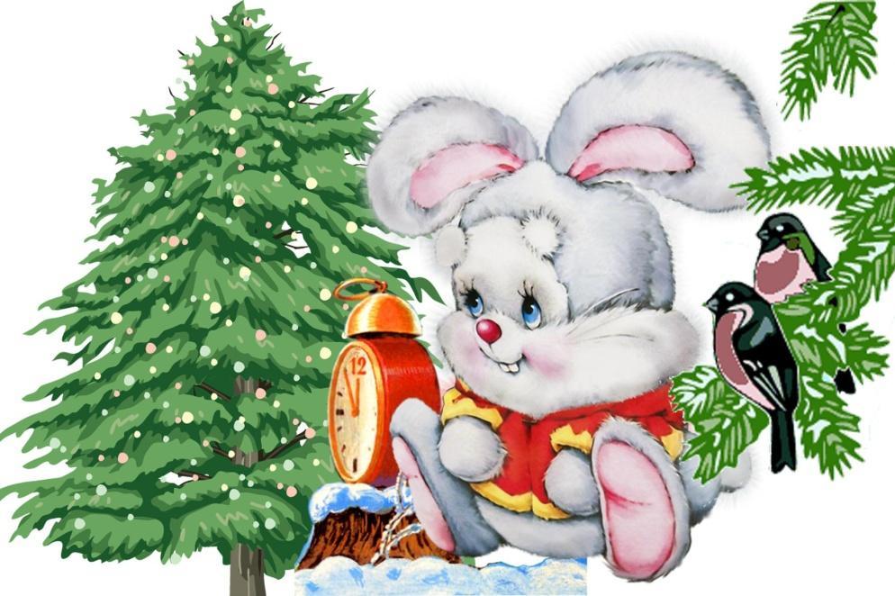 Новогодние картинки животных для детей