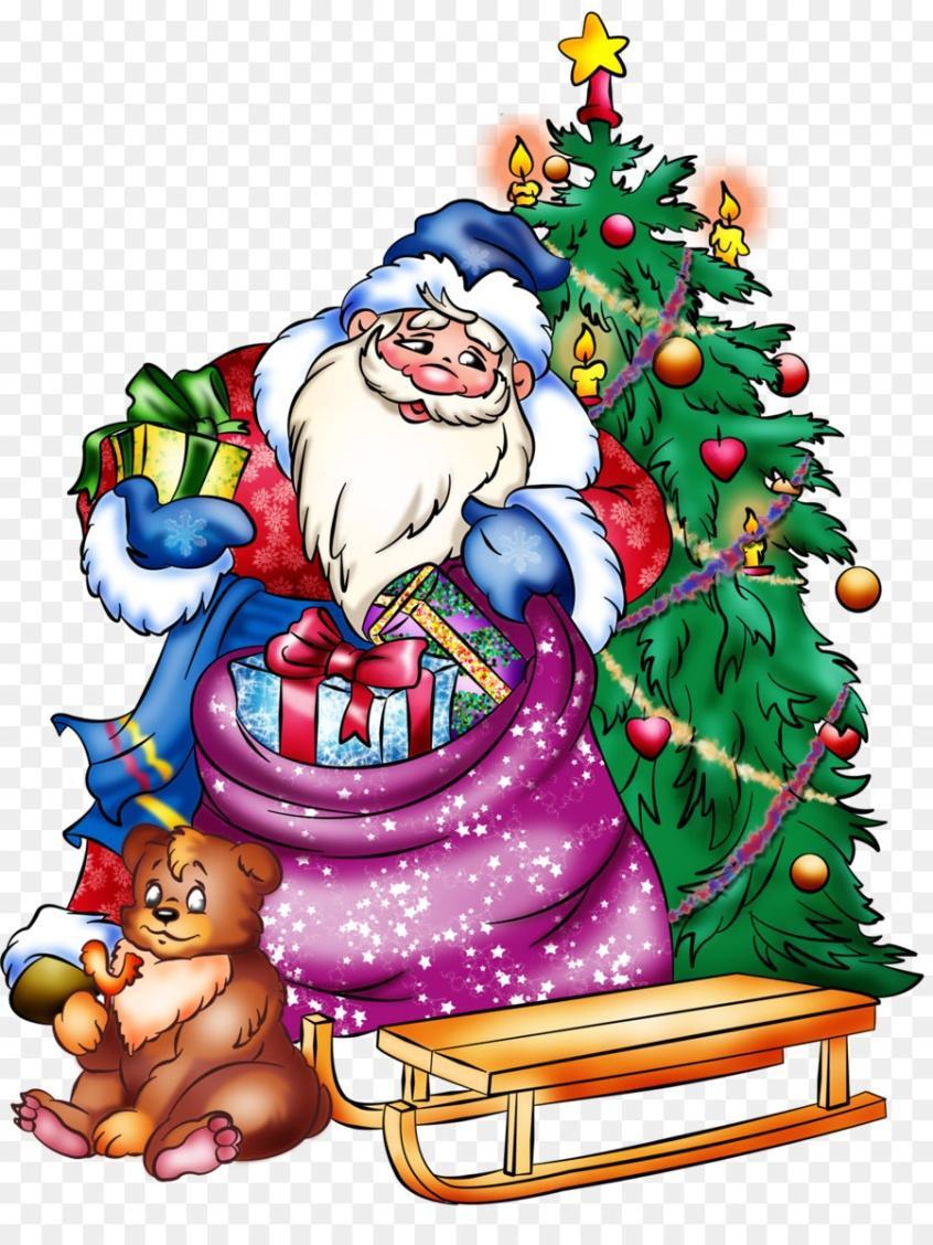 Картинки дед мороз и елка для детей