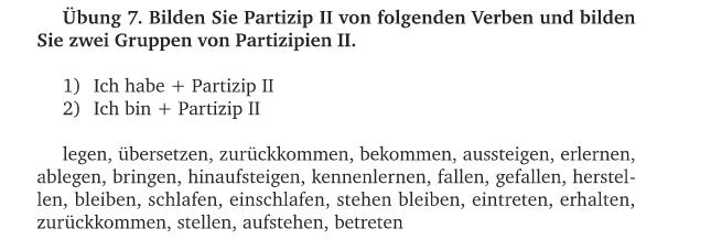 kennenlernen partizip 2)