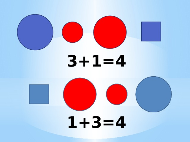 3+1=4 1+3=4
