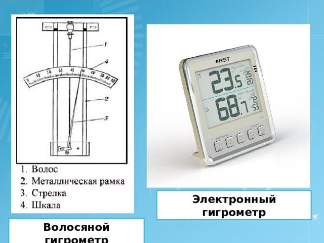 Электронный гигрометр Волосяной гигрометр