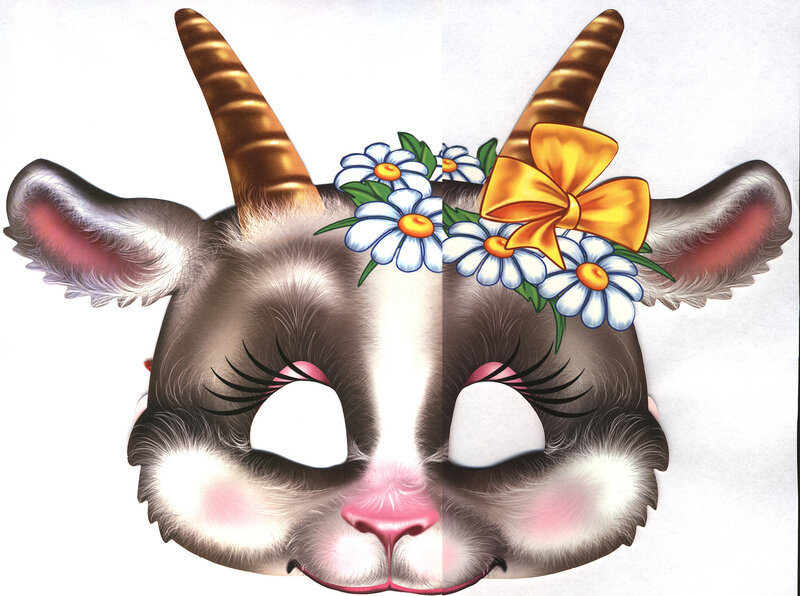 Картинка маска козы для детей