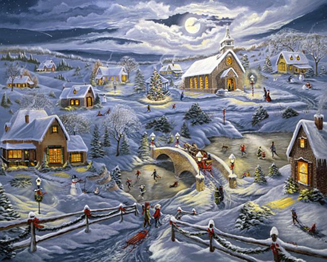 или рождество в моей деревне картинки месте крайнего