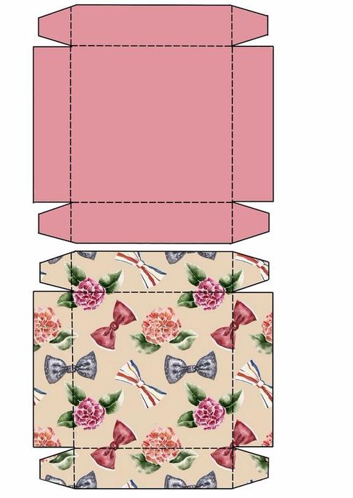 Упаковка для открытки шаблон