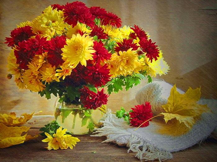 Букет цветов осенний, роз санкт петербургу