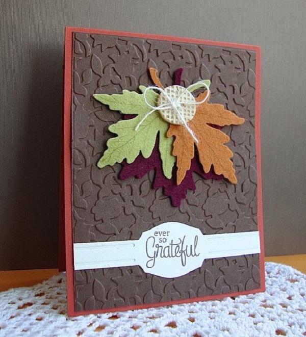 Открытки своими руками с листьями, открытки днем