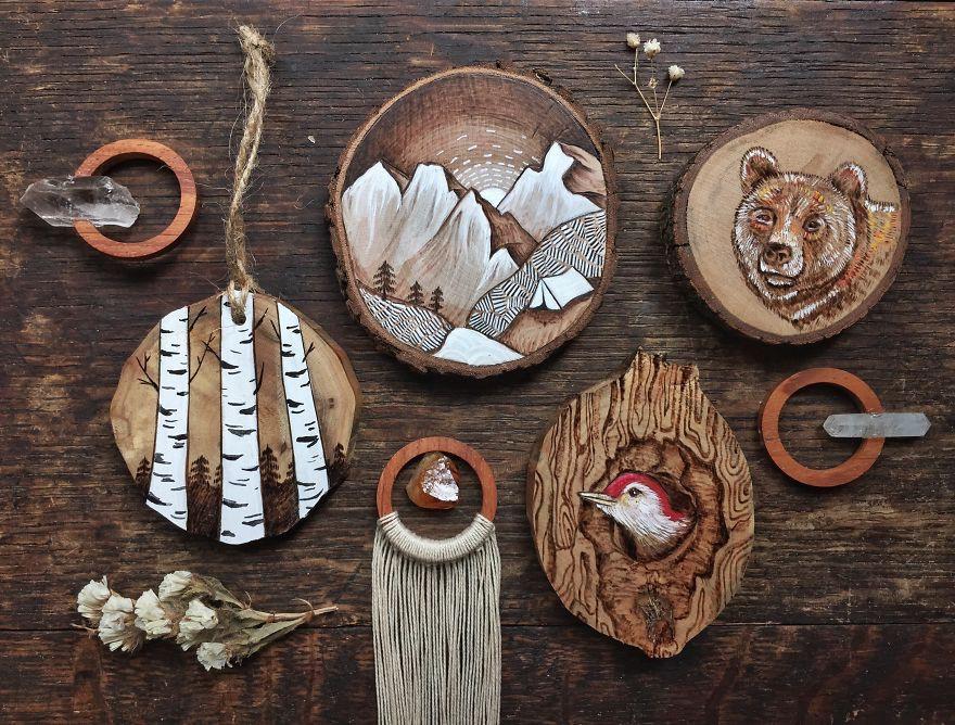 идеи для сувениров из дерева в картинках пингвинов