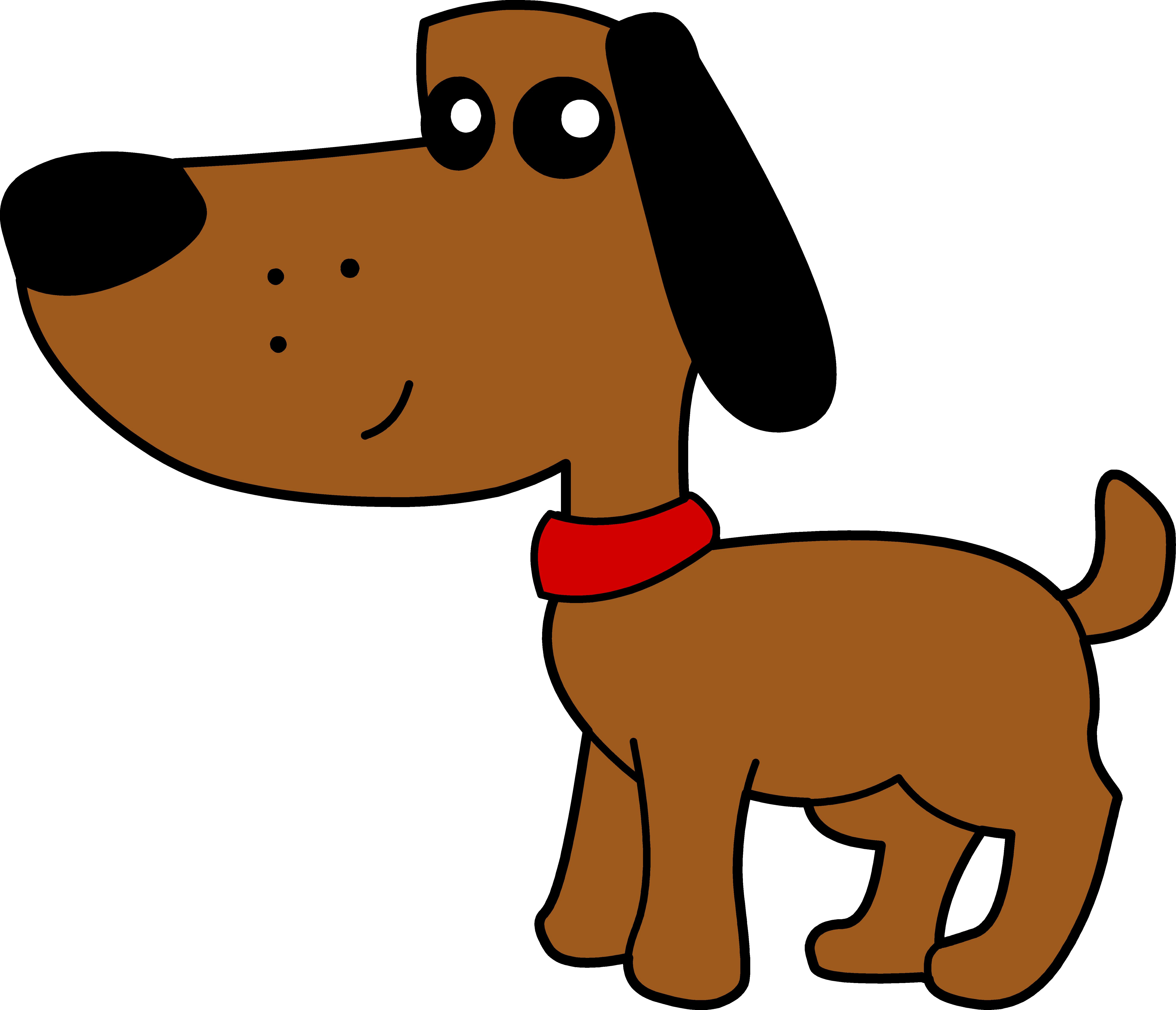 Картинка нарисованная собака для детей