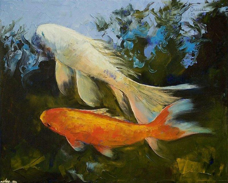 Рыба в картинах художников