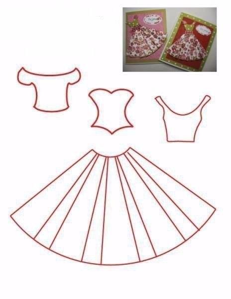 Открытка платье своими руками пошаговая инструкция, коллегу февраля открытка