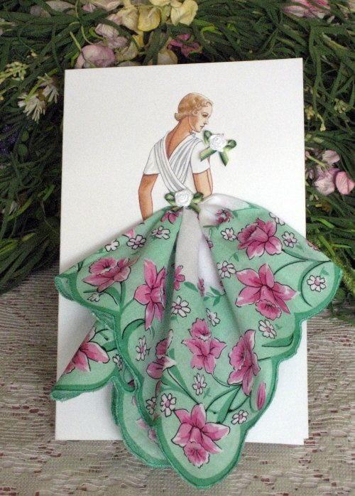 Авторские открытки с платочками