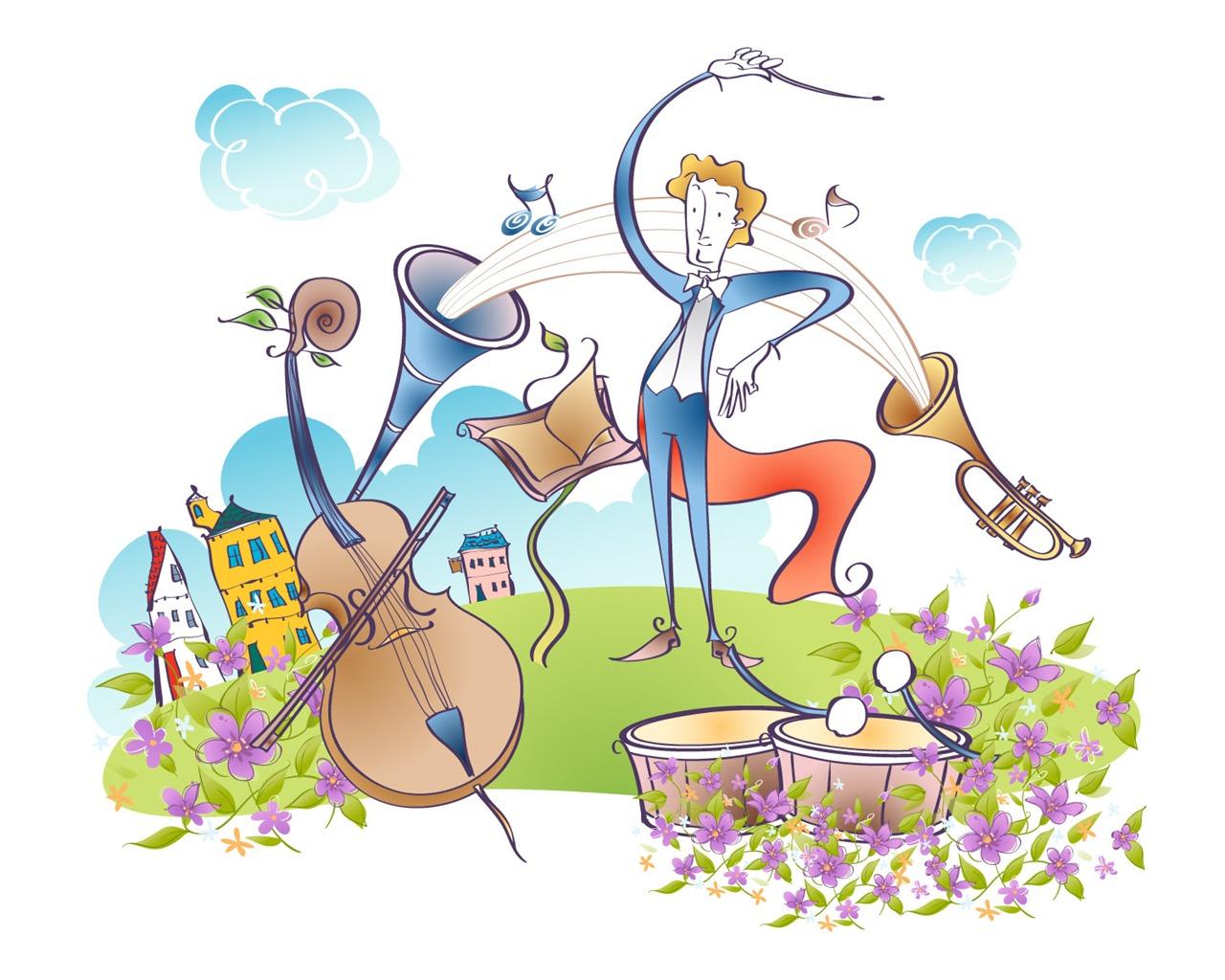 Смешные музыкальные инструменты картинки